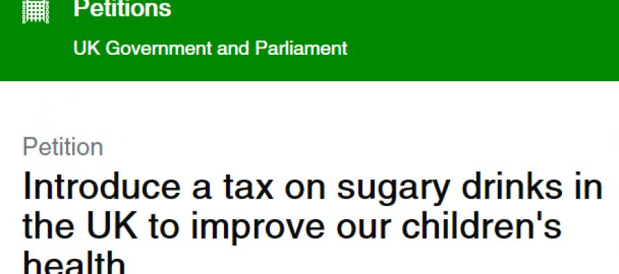 Parliamentary debate on sugary drinks