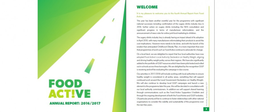 Food Active Annual Report: 2016 / 17