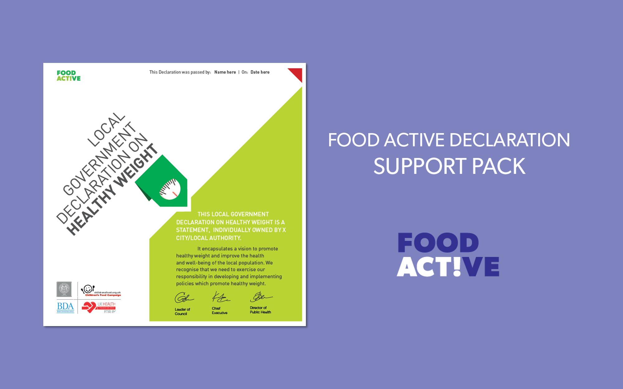 Food Active - Declaration Support Pack (Landscape)