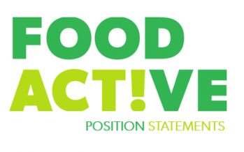 New Resource: Food Active Position Statements