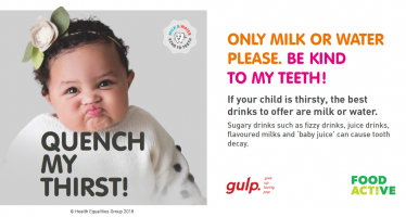 Kind to Teeth campaign launches in Blackpool to help promote healthier drink choices in the under 5's