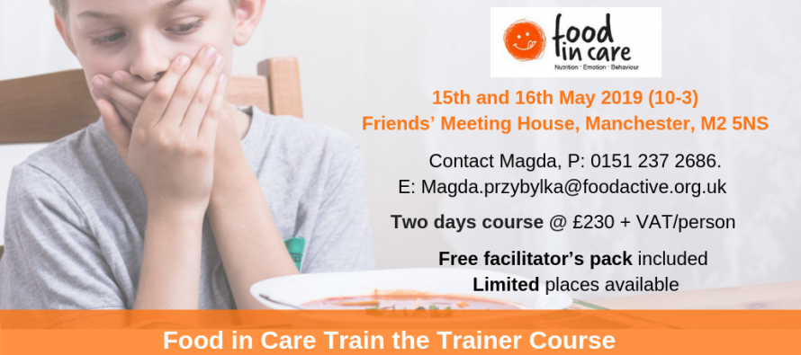 Last few places remaining for Food in Care train-the-trainer course – book now!