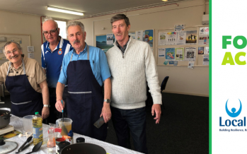 Food Active and Local Solutions launch 'Cooking and Company' project with elderly male carers