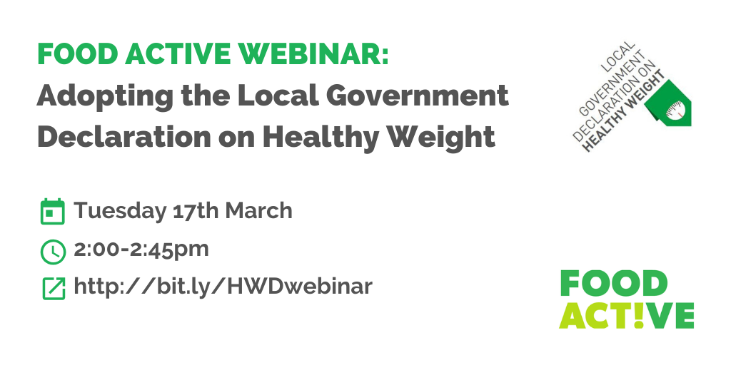 Adopting the Local Government Declaration on Healthy Weight